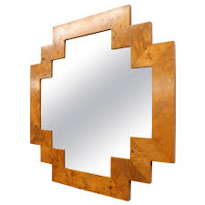 wood wall mirrors. Art Deco Style Geometric Italian Burl Wood Wall Mirror | See More Antique And Modern Mirrors At Https://www.1stdibs.com/furniture/mirrors/wall- S