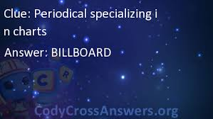 Periodical Specializing In Charts Answers Codycrossanswers Org