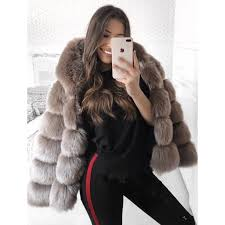 2019 5xl plus size faux fur coat women winter hooded thick warm jacket coats fluffy hoo faux fur coat outwear elegant overwear from jingju