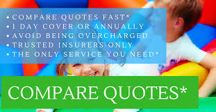 compare bouncy castle insurance quotes