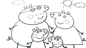 Peppa Coloring Pages Pig Family Coloring Page Shopkins Peppa Mint