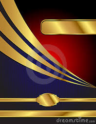 Blue Red And Gold Modern Vector Background