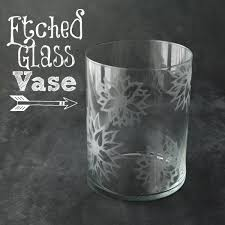 learn how to etch a flower design onto a glass vase it s so much easier