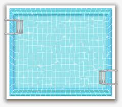 Vector Painted Swimming Pool Vector Hand Painted Swimming Pool