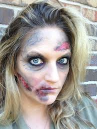 zombie makeup easy diy with makeup that you likely already have in your bag