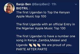 Parte After Parte Tops Kenya Apple Music Charts Sqoop