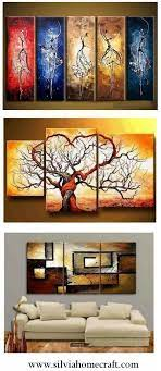large hand painted art paintings for