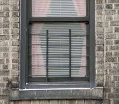 exterior window with child guard installed