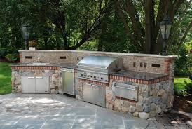 Stone Kitchens. Brick Inlay Outdoor Kitchen Design ...