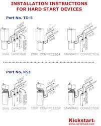 kickstart hard start device rectorseal and capacitor wiring starter capacitor wiring diagram kickstart hard start device rectorseal and capacitor wiring diagram
