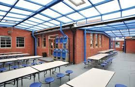 outdoor dining canopy at wilnecote high school broxap