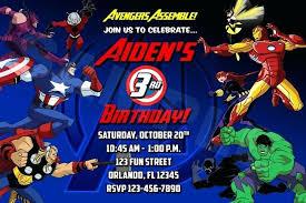 Birthday Party Invitation Card Template Free Avengers Birthday Card Template Free Printable Party Invitations