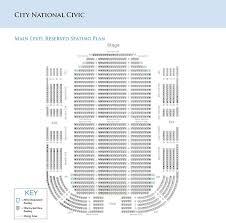 Unfolded City National Civic Seating Capacity San Jose