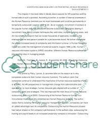 annotated essay example bibliography examples essay topics for  annotated