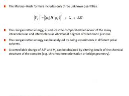 slide 18 parameters of the marcus hush equation