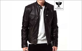 raven ra 20 men s genuine leather slim fit biker jacket
