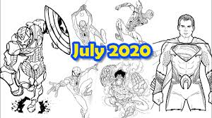 Unlike most superheroes, superman is not terran … he's an alien ! Spider Man Superman Captain America Coloring Pages Monthly Collection July 2020 Youtube