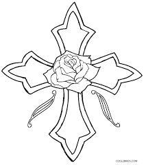 Cross Coloring Pages For Kids At Getdrawingscom Free For Personal