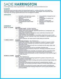 Assembly Line Job Description For Resume Resume For Your Job