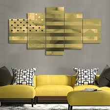 painting on canvas wall art 5 piece patriotic concept pictures for living room golden american flag on patriotic canvas wall art with amazon painting on canvas wall art 5 piece patriotic concept