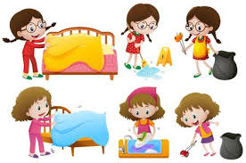 make bed clipart. Wonderful Bed Girls Doing Different Chores Illustration And Make Bed Clipart R