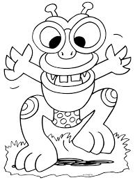 Kleurplaat Griezeldier Monster Kleurplatennl