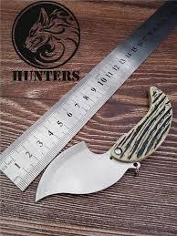 Tactical <b>High Hardness</b> Folding Knife Wild Survival Multi function ...