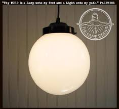large glass pendant light. Milk Glass PENDANT Light Large Globe - The Lamp Goods Pendant L