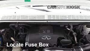 replace a fuse 2004 2010 infiniti qx56 2007 infiniti qx56 5 6l v8 locate engine fuse box and remove cover
