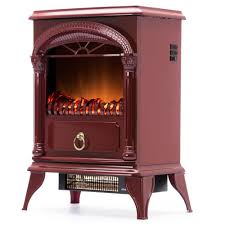 details about hamilton free standing electric fireplace stove 22 inch red portable electric