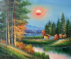 oil painting landscape paintings frames 17