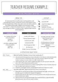Sample Resume For Teachers Job Teacher Resume Samples Writing Guide Genius How To Write For