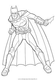 Disegno Batman Supereroe Personaggio Cartone Animato Da Colorare Con