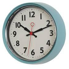 full image for chic wall clock blue 87 digital wall clock blue light s blue metal