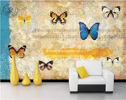 Beibehang Behang Zijde Doek Behang Vintage Engels Nostalgie Vlinder