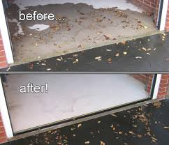 garage door weather seal before and after