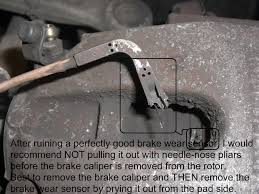 quick question concerning pad wear sensors and warning lights one user s pictorial example of a complete brake job all torque figures specs measurements fluids decisions tools tricks mistakes suppliers