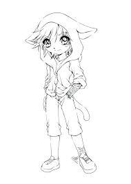 A Girl Coloring Page Cartoon Girl Coloring Pages Outline Of A Boy
