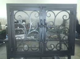 gorgeous wrought iron fireplace screens iron fireplace screen install your new custom iron fireplace screen or