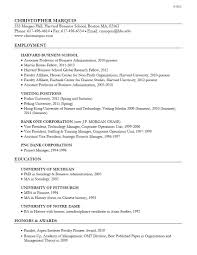 Sample Resume: Associate Professor Of Business Administration Resume.