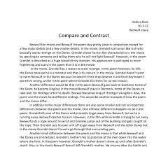 beowulf poems poems compare contrast essay beowulf movie