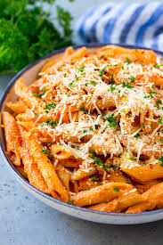 penne alla vodka pasta dinner at the zoo