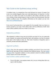 Explanatory Synthesis Essay Your Guide To The Synthesis Essay Writing By Synthesis Essay Issuu