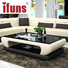 coffee tables living room coffee table furniture modern new design glass top wood base small round