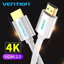 Vention <b>HDMI Cable</b> 4K HDMI to HDMI <b>2.0 Gold plated</b> plug ...