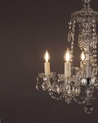 5 branch czechoslovakian crystal chandelier