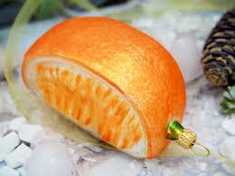 Orange Orangenspalte Christbaumschmuck Weihnachten