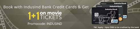 get 100 cashback upto rs 500 on the 2nd ticket with indusind bank credit card