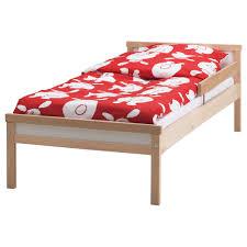 SNIGLAR Bed frame with slatted bed base Beech 70x160 cm | Bed ...