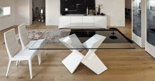 Contemporary Glass Dining Table ispcenterus